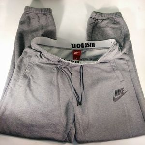 NIKE RALLY heather gray LOOSE FIT SWEAT PANT